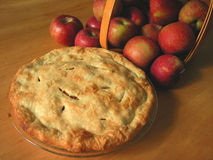 Apple Pie. Made from late summer's harvest stock photo