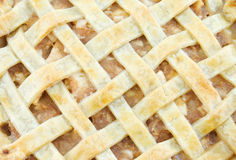 Apple Pie. Close-up of an apple lattice pie Royalty Free Stock Photo
