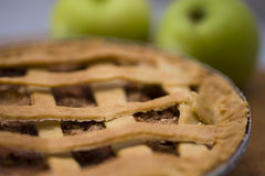 Apple pie. A close up of a yummy apple pie from the oven Stock Image