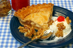 Apple Pie Ala Mode Stock Photo