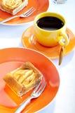 Apple Pie And Coffee Stock Photos