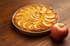 Apple pie with  apple Stock Photography