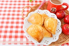Apple pie and apple Royalty Free Stock Image