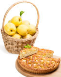 Apple pie and apples Royalty Free Stock Photography