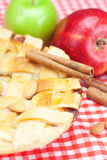 Apple pie, apples, cinnamon and almonds Royalty Free Stock Photo