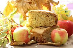 Apple pie and apples Royalty Free Stock Photo