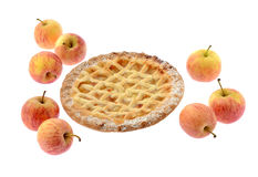 Apple pie and apples Royalty Free Stock Photos