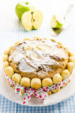 Apple pie. With apples tied with a ribbon on a birthday Royalty Free Stock Photos