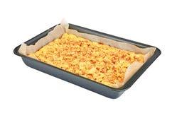 Apple pie on baking sheet Royalty Free Stock Photos