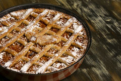 Apple pie in baking tray Stock Image