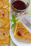 Apple pie with berries. On the table Stock Photography