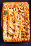 Apple pie on black tray Royalty Free Stock Photo