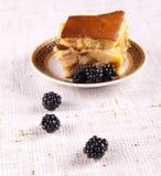 Apple pie with blackberry Stock Image
