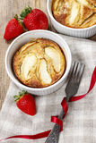 Apple pie in ceramic bowl Royalty Free Stock Image