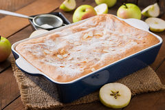 Apple Pie Charlotte with almond. Royalty Free Stock Photo