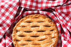 Apple Pie Checked Table Cloth Royalty Free Stock Photography