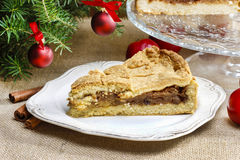 Apple pie in christmas setting Royalty Free Stock Image