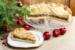 Apple pie in christmas setting Stock Image