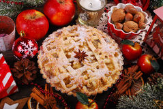 Apple pie for christmas Stock Image