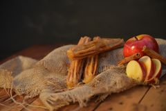 Apple pie Churro. Hand made artisan churros with new creative flavors Royalty Free Stock Image