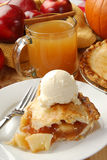 Apple pie and cider Royalty Free Stock Photo