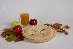 Apple Pie and Cider Royalty Free Stock Photos