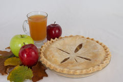 Apple Pie and Cider Royalty Free Stock Images