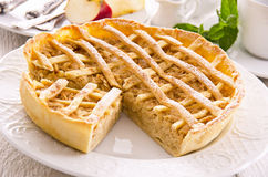 Apple Pie with Cinnamon Royalty Free Stock Photography