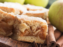 Apple pie with cinnamon Stock Images