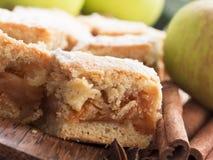 Apple pie with cinnamon Stock Images
