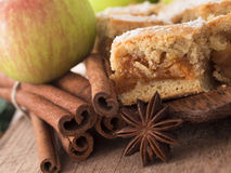 Apple pie with cinnamon Royalty Free Stock Photo
