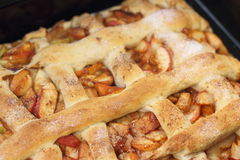Apple pie with cinnamon Royalty Free Stock Photo