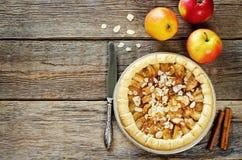 Apple pie with cinnamon Royalty Free Stock Photos