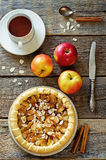 Apple pie with cinnamon Royalty Free Stock Images