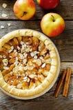 Apple pie with cinnamon Stock Photos