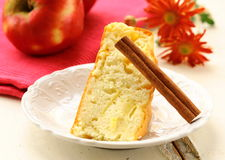 Apple pie with cinnamon stick Royalty Free Stock Photos