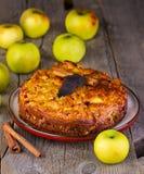 Apple pie with cinnamon Stock Image