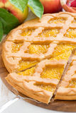 Apple pie, close-up Royalty Free Stock Image
