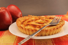 Apple pie closeup Royalty Free Stock Photo