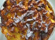Apple pie closeup. Apple pie detail, traditional sweet Stock Image