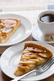 Apple pie with coffee Royalty Free Stock Photos