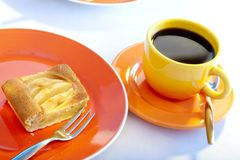 Apple pie and coffee Stock Image