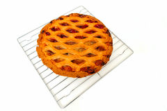 Apple Pie On Cooling Rack Stock Images