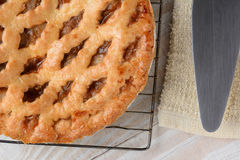 Apple Pie Cooling Rack Server Royalty Free Stock Image