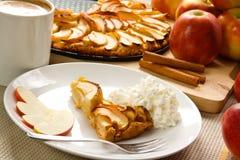 Apple pie with cream Stock Image