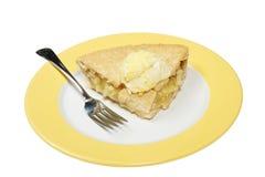 Apple pie and cream Stock Photos