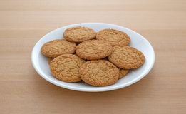 Apple pie crust cookies on a plate Royalty Free Stock Photos