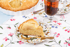 Apple pie with cup of tea Stock Photos