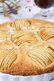 Apple pie with cup of tea Royalty Free Stock Photo