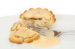 Apple pie and custard Stock Photos